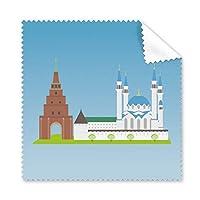 Kazanロシア国立シンボルパターン眼鏡布クリーニングクロス電話画面クリーナー5点ギフト