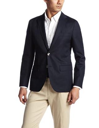 Cotton Linen Oxford 2-button Jacket 3122-186-0351: Navy