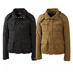 Aspesi Garment Dyed New Dakar Field Jacket: Black, Beige