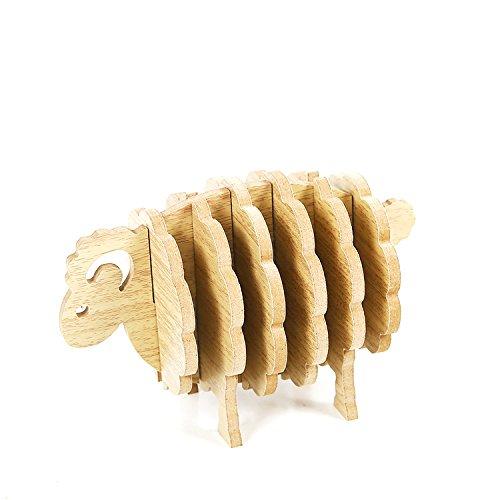 RoomClip商品情報 - Flushbay コースター 木製コースター 6枚セット 茶托 収納ケース付き お茶 カフェ 来客用
