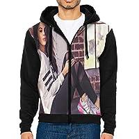 最新のアジアの人気コート、人気のストリートファッションメンズ長袖帽子コート Selena Gomez メンズカジュアルアウター