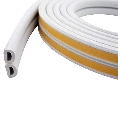 YideaHome 隙間テープ スキ用テープ 隙間風防止 気密 窓 ドア 玄関 強力接着剤 防音 防風 防虫D型 1本入 3色選べる 5M