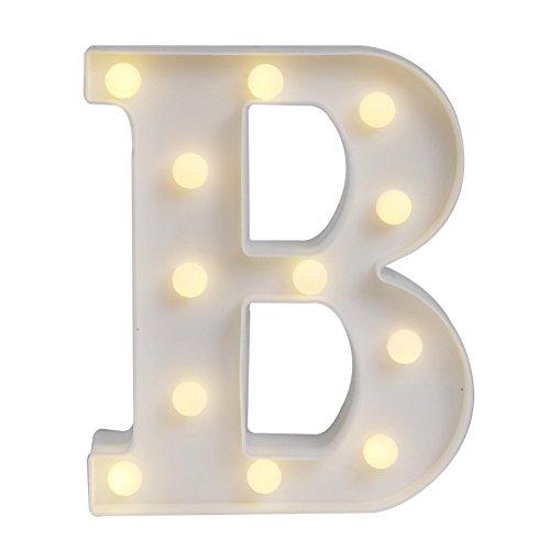 LED イルミネーション イニシャルライト アルファベットライト ホームイベント インテリア ギフト (B)