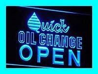 ADVPRO i018-b OPEN Quick Oil Change Car Repair LED看板 ネオンプレート サイン 標識