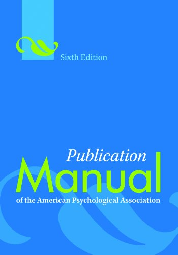 Publication manual of the american psychological association sixth publication manual of the american psychological association sixth edition by american psychological association fandeluxe Choice Image
