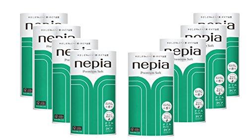 ネピア プレミアムソフト トイレットロール 12ロール ダブル (2枚重ね 30m巻) 石けんの香り×8個