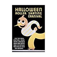 Sport Roller Skating Halloween Chicago USA Wall Art Print スポーツシカゴアメリカ合衆国壁