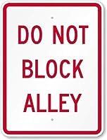 S-RONG雑貨屋素敵な金属の道路標識は路地をブロックしないでください。