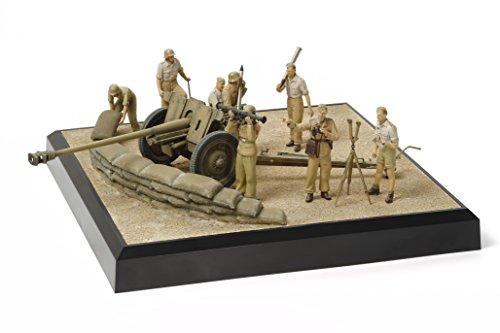 タミヤ 1/35 ミリタリーコレクションシリーズ No.08 ドイツ陸軍 7.62cm 対戦車砲 Pak36 (r) 北アフリカ戦線情景セット プラモデル 32408