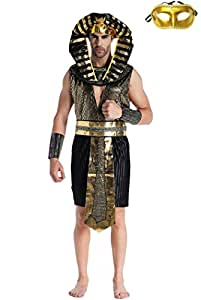 【コスプレ】Madrugada 古代エジプト・ギリシャ男性衣装 A ベネチアンマスク付き S247