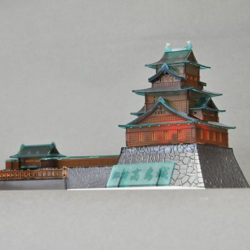 1/200 Castle Collection 諏訪高島城 光るクリア版