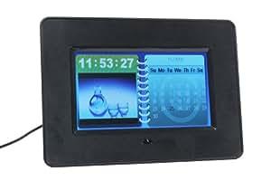 プロテック 7インチ液晶搭載 デジタルフォトフレーム PDF-777 カレンダー・時計・スライドショーの同時表示機能搭載