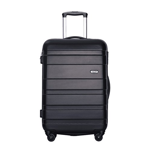 【タノビ】 TANOBI スーツケース 超軽量 キャリーバッグ キャリーケース 旅行箱 S型国内・国際線機内持込可ファスナータイプ 【一年修理保証】 3サイズ6色 (S, ブラック)