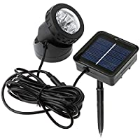 Briday 6 LEDs Underwater Solar Power Night Light Waterproof Garden Lamp