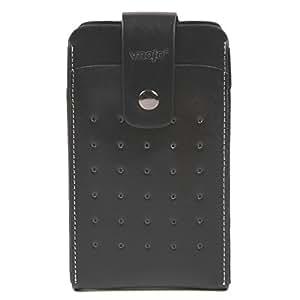 スマートフォン ケース ベルト iphone6 plus ケース ベルト iphone6 ポーチ メンズ スマートフォンポーチ スマホポーチ スマートフォンポーチ レザー iphone6 plus 5.5インチ 5インチ ベルト 大きめ かっこいい (ブラック)