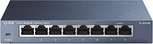 TP-Link 8ポート スイッチングハブ 10/100/1000Mbps ギガビット 金属筺体 設定不要 ライフタイム保証 TL-SG108V4.0