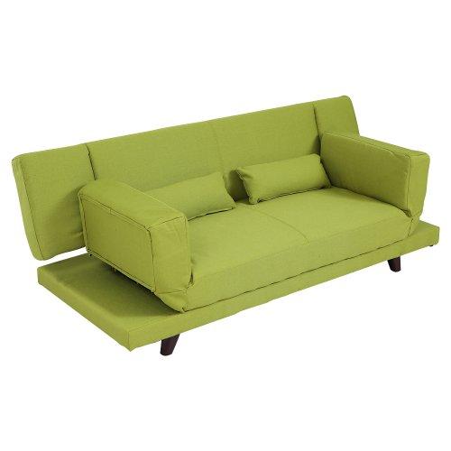 LOWYA (ロウヤ) ソファ ソファー ベッド ソファベッド 2人掛け 背もたれ 両肘 リクライニング グリーン おしゃれ 新生活