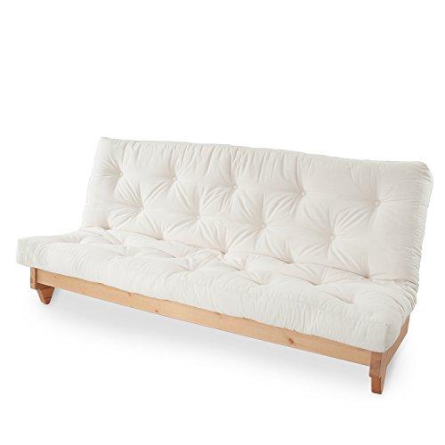 LOWYA (ロウヤ) ソファ ソファーベッド 北欧 無垢材 パイン材 すのこベッド ボリュームたっぷりミルフィーユマットレス ソファー ベッド セミダブル キャンパス おしゃれ 新生活