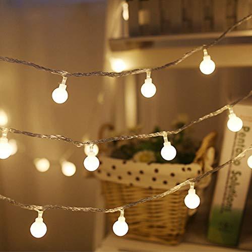 Idealeben イルミネーションライト 電池式ストリングライト 飾りライト LEDボールライト ...