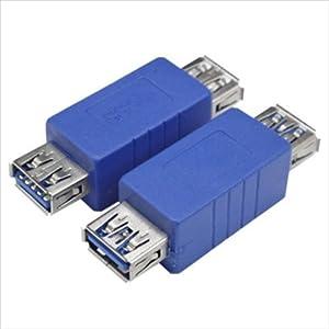 変換名人 USB3.0接続ケーブル A(メス) - A(メス) USB3AB-AB