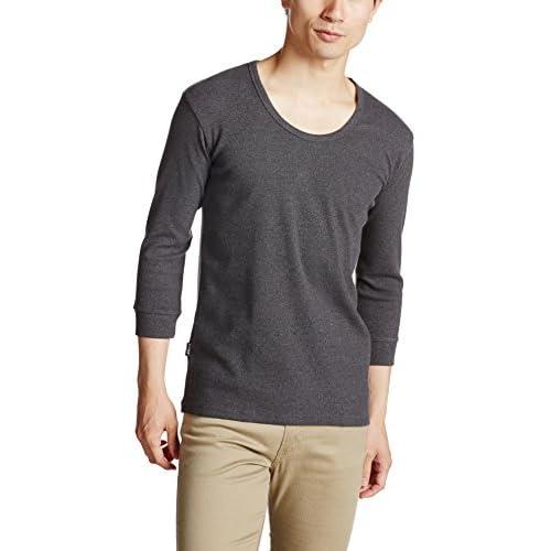(アヴィレックス)AVIREX AVI-DAILY  Uネック7分袖 6143509 19 CHARCOL M Tシャツ