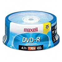 DVD - Rディスク、4.7ギガバイト、16倍、スピンドル、ゴールド、25/パック 1-Pack 9492141
