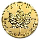 3.11グラム 純金 カナダ メイプルリーフ 5ドル金 ゴールド コイン 2014年製造 24K 1/10オンス インゴット 金貨 金塊 金地金 真空パック入り