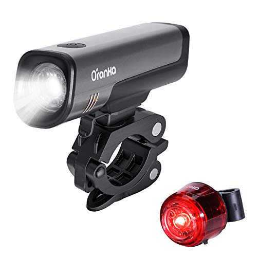 自転車ライト Oranka テールライト付 2200mah USB充電式 ロードバイク ライト IPX5防水 高輝度LED 4点灯モード 200メートル以上照射 防眩 自転車ライトセット