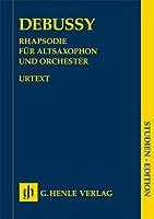 Rhapsodie fuer Altsaxophon und Orchester: Particell. Urtext, Studienpartitur