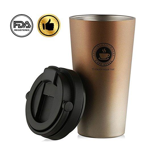 SEDETER 真空断熱 タンブラー 水筒 保温保冷 二重構造 コーヒーカップダブル 304ステンレス 携帯在宅アウト...