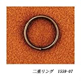 クラフト社 レザークラフト用 二重リング AT(アンティーク調メッキ) 内径φ12mm 10個入×2セット 1559-07