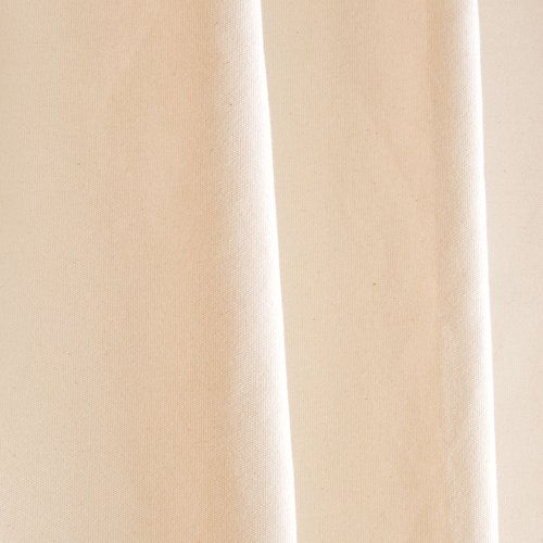 Lifekind認定オーガニックコットンキャンバスシャワーカーテン( 72x 72インチ)–No Liner必要(ナチュラル) 72 x 72 Inches LKShwrCurtainChrome