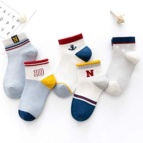90eee080357d89 LILY CUPS 通気性抜群 靴下 キッズ ソックス カラーフル 5足セット スポーツ 男の子 女の子