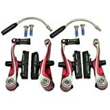 TRP CX8.4 Alloy Mini V-Brake Calipers Set, Front and Rear, Red, MH1709