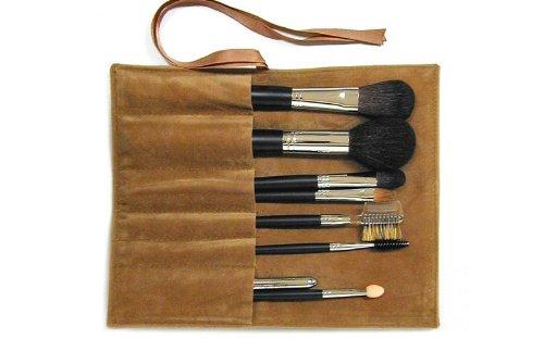 伝統工芸品 熊野筆メイクブラシ (携帯用) Ai brush ロング 化粧ブラシセット 8本 (専用ケース付き)
