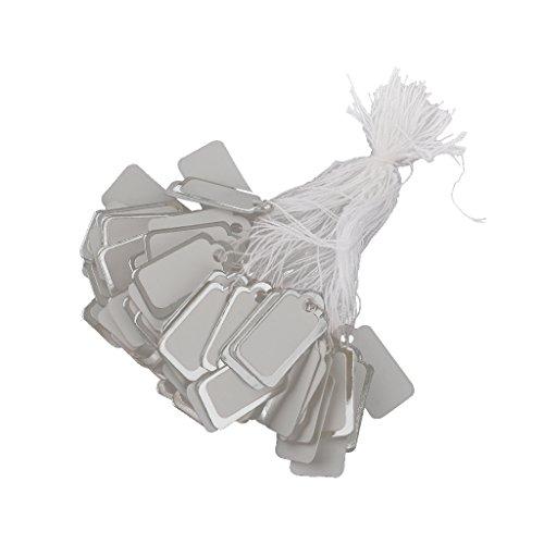 [해외]Lovoski 직사각형 조임끈 가격표 종이 태그 보석 시계 용 가격 표시 은빛 2.3 X 1.3cm 500 매 세트/Lovoski Rectangular string with price tag paper tag jewelry watches price display silver color 2.3 x 1.3 cm 500 piece set