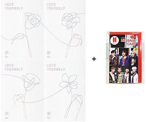 [限定版] 防弾少年団 - LOVE YOURSELF 承 [Her] [L.O.V.E version SET] 4CD+Photobook+Photocard+Sticker [BnKshop特典 ボーナスギフトフォトカードセット30枚を含む] [韓国盤]