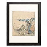 葛飾北斎 Katsushika Hokusai 「江の島詣り」 額装アート作品