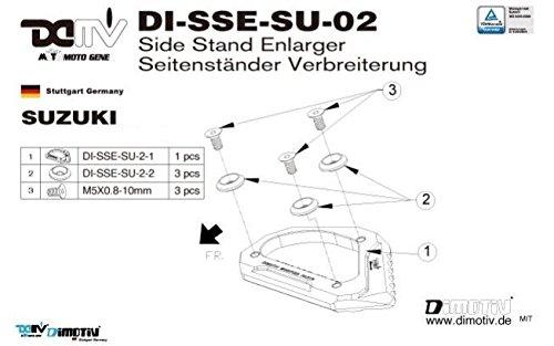 SUZUKI V-STROM650 12-用 サイドスタンドエンド ブラック DI-SSE-SU-02-K