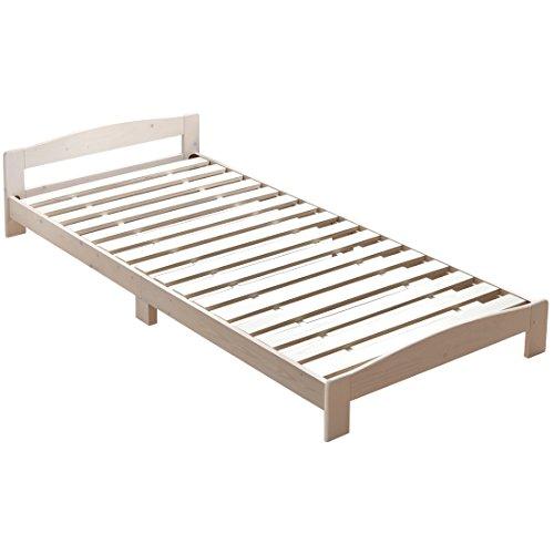 タンスのゲン すのこベッド シングル ベッドフレーム 天然木 北欧パイン無垢材 ホワイト 49600001 WH 【 54785 】