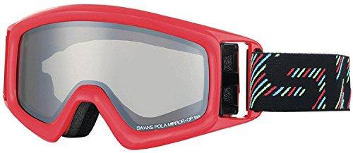 SWANS(スワンズ) ゴーグル 眼鏡使用可 スキー スノーボード 偏光 ミラー ヘリ HELI-MPDH GLR グロスレッド