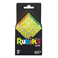 Hasbro Gaming Rubik's Cube Neon Pop 3 X 3 Puzzle for Kids Ages 8 & Up [並行輸入品]