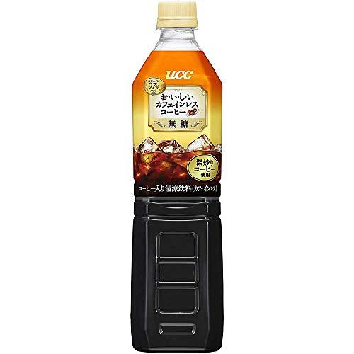 UCC おいしいカフェインレス ボトルコーヒー 無糖 ペットボトル 930ml×12本