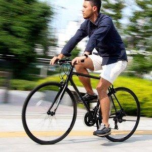 クロスバイク 700c(約28インチ)/ブラック(黒) シマノ21段変速 アルミフレーム 軽量 重さ11.2kg 【VENUS】 ビーナス CAC-021【代引不可】 ds-1634425