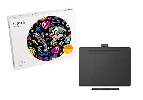 【Amazon.co.jp限定】ワコム ペンタブレット Wacom Intuos Mediumワイヤレス ブラック オリジナルデータ特典付き TCTL6100WL/K0