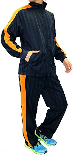 (マルカワジーンズパワージーンズバリュー) Marukawa JEANS POWER JEANS VALUE ジャージ メンズ 上下セット セットアップ 4color L ネイビー