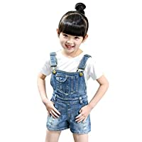 614c7190a1dc67 AMIGGOO サロペット ダメージデニム 子ども用 キッズ 女の子 ペアルック 親子お揃い服 スカート デニムパンツ