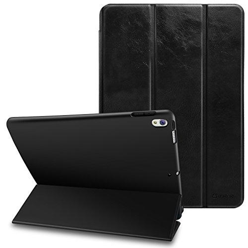 AUAUA iPad Pro 10.5 ケース 三つ折りスタンド Pro 10.5 カバー,高級品質 レザー製 10.5インチタブレットケース オートスリープ機能付き 超軽量&超薄型 スマートケース 保護フェルトカバー付属 (iPad Pro 10.5, 三つ折りスタンド)