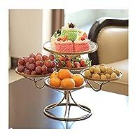フルーツプレート、ヨーロッパモダンフルーツバスケット、多機能、家庭/結婚式パーティー/キャンディ/スナック/スナック/ドライフルーツに適しています (Color : Gold)