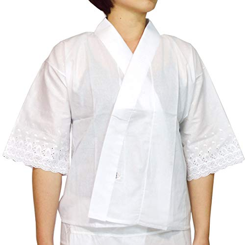 和装下着・浴衣・着物肌着 夏用・冬用半えり付肌襦袢 2サイズ2タイプ/M(3177) 1(夏用)